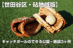 【キャッチボールのできる公園】 世田谷区・砧地域のキャッチボールのできる公園3ヶ所まとめ