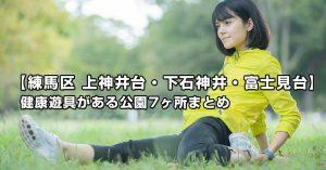 【練馬区 上石神井・下石神井・富士見台の公園まとめ】健康遊具のある公園7ヶ所