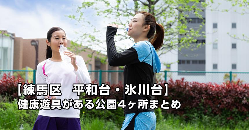 【練馬区 平和台・氷川台の公園まとめ】健康遊具のある公園4ヶ所