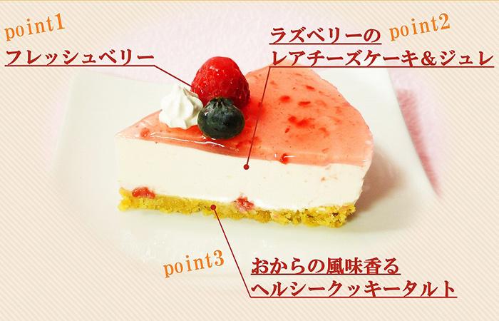 カフェ エニシダ 低糖質 ラズベリーチーズケーキ2