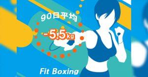 任天堂Fit-Boxinで-5.5kg90日と平均値算出