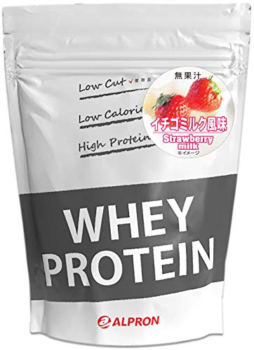アルプロン ホエイプロテイン100 1kg【約50食】イチゴミルク風味(WPC ALPRON 国内生産)