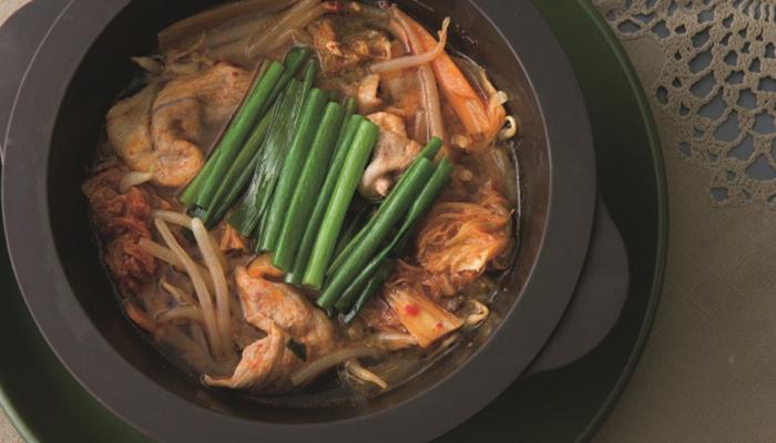 豚こまキムチチゲ楽できる&ダイエット夜遅く食べても太らないレンチン小鍋レシピ