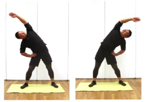 体を横に曲げる運動